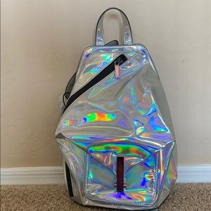 Holographic Kendall+Kylie backpack